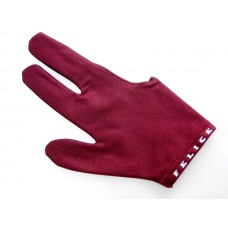 酒紅色.N.I.C.進口萊卡伸縮布三指手套.SL012R