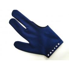 深藍色.N.I.C.進口萊卡伸縮布三指手套.SL012B1