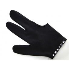 素黑色.N.I.C.進口萊卡伸縮布三指手套.SL012K