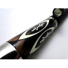 黑底白色造型叉角.Cuetec.2代4片尾.美國原裝進口撞球桿.W0903