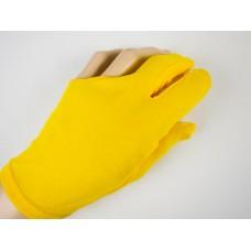 黃色彈性布料.三指手套.DSL-EQP-10Y