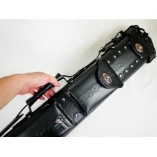 6孔.高級合成皮壓紋黑色高級球筒.C24JS