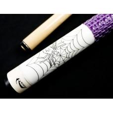 黑蜘蛛-紫色編織握把.RHINO.基礎撞球桿.RH551