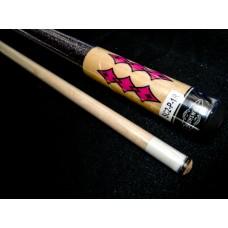 Brunswick.僅此1枝-特選高級楓木原木色+粉紅貼紋撞球桿.SC2-P-1R