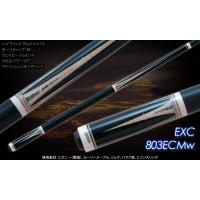 Exceed日本頂級球桿.黑檀木六叉虎紋年輪鑲嵌七彩鮑魚貝.EXC-803ECMw