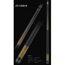 高級黑檀木鑲嵌蛇紋木6插角.MEZZ.日本進口撞球桿.CP13SW-B