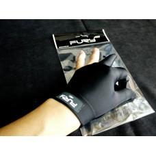 黑色全指.FURY原裝進口萊卡伸縮布三指手套.FURY-FBK3
