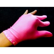 粉紅色.N.I.C.進口萊卡伸縮布三指手套.SL012P